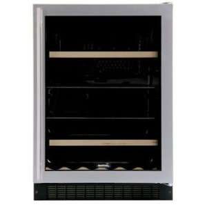 Wine Cooler   Black Cabinet & Custom Overlay Frame Glass Door   Right