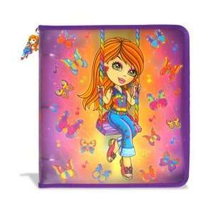 Fashion Zipper Binder Butterfly Girl Office Products
