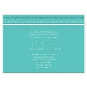 Dots & Stripes Border Wedding Invitations Health
