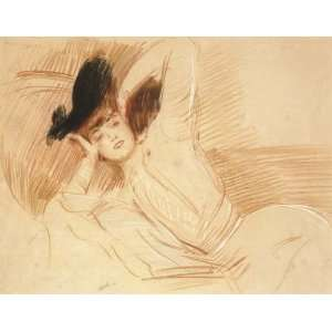Paul Cesar Helleu   32 x 24 inches   Young woman lying: Home & Kitchen