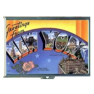 New York City Retro Postcard, ID Holder, Cigarette Case or