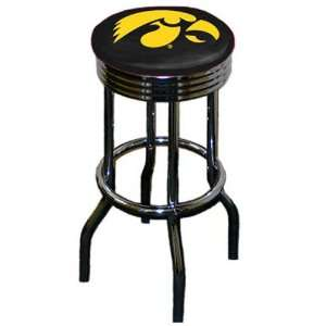 University of Iowa Hawkeyes Swivel Bar Stool Set Sports