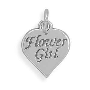 Oxidized Sterling Silver Flower Girl Charm West Coast
