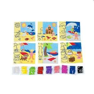 Day at the Beach Sand Art Craft Kits (2 dz): Toys & Games
