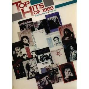 Top Hits of 1988 Voice Piano Guitar Warner Bros. Books