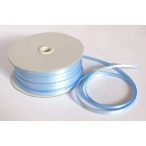 1/8in. Wide LIGHT BLUE Double Faced Satin Ribbon (50 yards