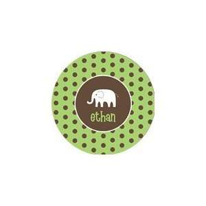 personalized elephant boy plate (style 2p): Everything