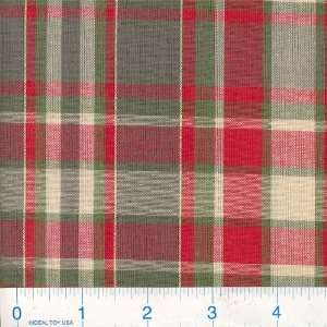 45 Wide Dan River Plaid Red/Green/Gold Fabric By The