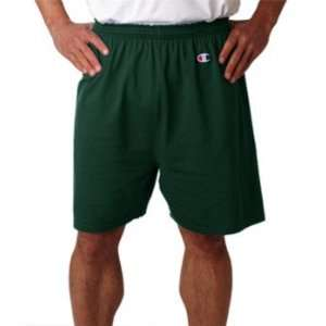 Champion Mens Cotton Gym Short Dark Green Medium:  Sports