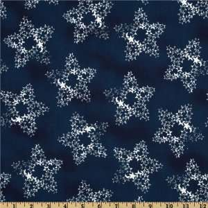 44 Wide Honor and Glory Star Clusters Navy Fabric By The