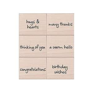 Petite Messages Wood Mounted Rubber Stamp Set (LL154