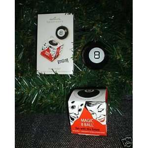MAGIC 8 BALL Set of 2 Christmas Ornaments (NEW IN BOX