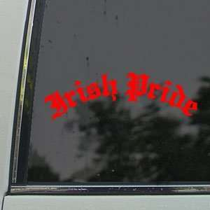 Irish Pride Red Decal Car Truck Bumper Window Red Sticker