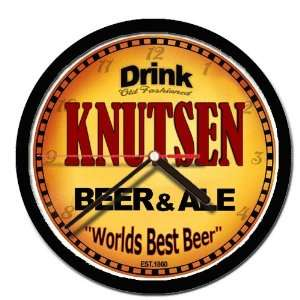 KNUTSEN beer and ale cerveza wall clock: Everything Else