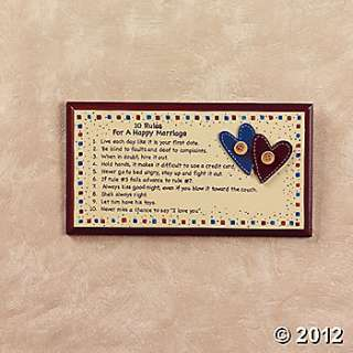 """10 Rules For A Happy Marriage"""" Sign, Wall Decor, Home Decor"""