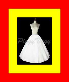 Line Wedding Dress Crinoline Petticoat Slip Skirt n
