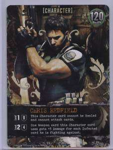 Resident Evil Game Chris Redfield Promo Card NEW Bandai
