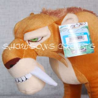 ICE AGE 3 PLUSH TOY 19 DIEGO SABER TOOTH TIGER FIGURE