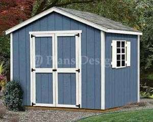 Yard Storage Gable Roof Style Shed Plans #20808