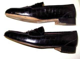 Womens Cole Haan Black Patent loafer Italy Shoe 8 AA 7 |
