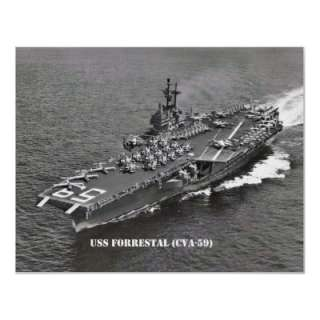 USS FORRESTAL (CVA 59) POSTERS  Zazzle.co.uk