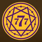 Chocolate 777 Heptagram with Number No.3_2c Langarmshirts