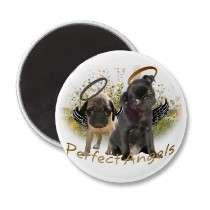 Perfect Angel Pugs Fridge Magnets by friskybiz