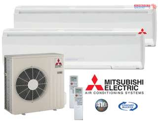 Mitsubishi MR.SLIM Ductless Mini Split Air Conditioner DUAL ZONE HEAT