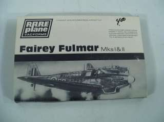 Vacforms Fairey Fulmar MksI II 1/72 Scale Model Airplane Kit