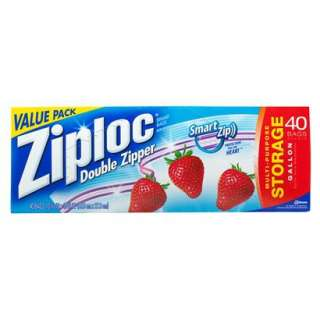 Ziploc Storage Bag, Gallon Value Pack, 40 Count.Opens in a new window