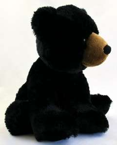 15 Aurora Plush Black Bear Stuffed Animal Toy NEW