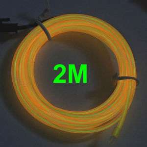 2M Flexible Neon Light Glow EL Wire Rope Car Party 2#