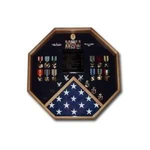 Retirement flag and medals display cases: Home & Kitchen