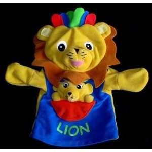 Disney Baby Einstein Movies LEO the LION Fleece Hand Puppet Plush Soft
