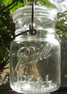 Ball Ideal Canning Jar W/ Bale Latch Lid PATD JULY 14 1908 Gift Jar