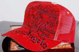 NWT CHRISTIAN AUDIGIER CITY OF ANGELS HAT   RED/BLACK
