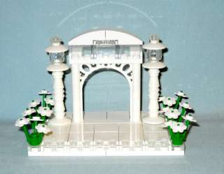 LEGO WEDDING CAKE TOPPER ARCH FOR BRIDE & GROOM, NEW