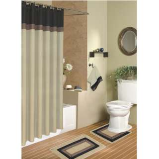 In The Woods Bath Shower Curtain Towels Rug Accessory Set