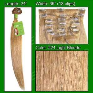 In Human Hair Extensions   #24 Light Blonde Health & Personal Care