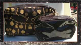 ESTEE LAUDER BROWN PATTERN TRAIN CASE + COSMETIC BAG NW