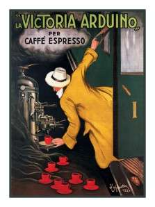 Leonetto Cappiello Coffee Poster Counted Cross Stitch Chart