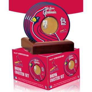Sports St. Louis Cardinals Coasters with Game Used Dirt (Set of 4