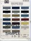 1972 CHEVROLET GMC TRUCK PAINT CHIPS CODES ALL COLORS