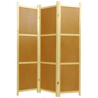 Oriental Furniture Cork Board Decorative Room Divider Decor