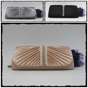 Satin Clubbing Party Wedding Evening Clutch Bag 9826