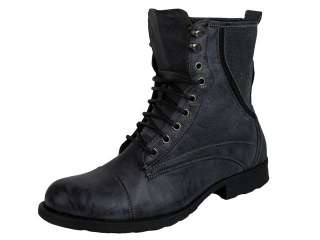 Mens Gola Combat Boot Military Army Style Lace Up Grey