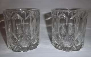 CROWN ROYAL Canadian Whisky Faceted Rocks Bar Liquoir Glasses
