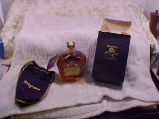 1956 FULL BOTTLE SEAGRAMS CROWN ROYAL WHISKEY LIQUOR W/ BOX