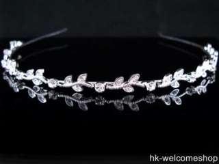 Bridal Clear Crystal Rhinestone Headband Tiara T1213