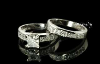 anillo de bodas compromiso determinados 3pcs que hacen juego anillo
